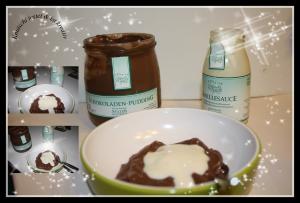 Schokoladenpudding mit Vanillesauce